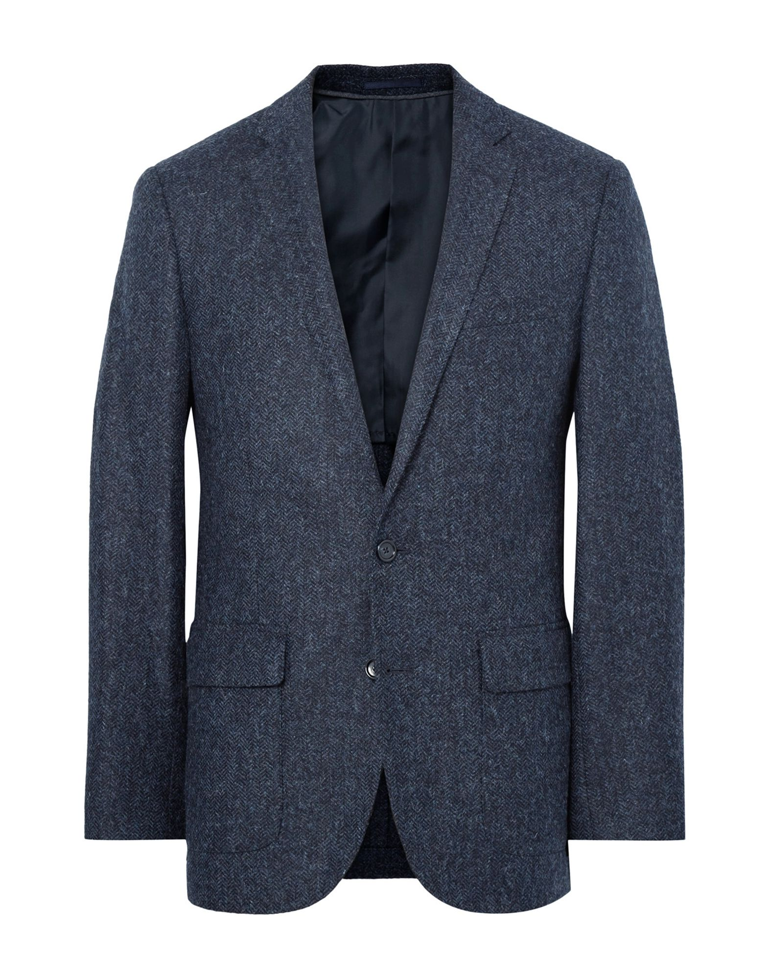 《送料無料》J.CREW メンズ テーラードジャケット ダークブルー 44 R ウール 55% / コットン 45%