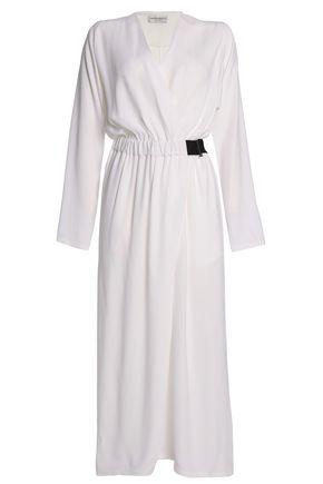 a682cdedd377 AMANDA WAKELEY Wrap-effect crepe jumpsuit