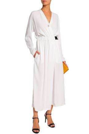 AMANDA WAKELEY Wrap-effect crepe jumpsuit