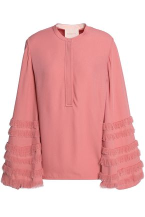 ROKSANDA Frayed crepe blouse