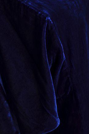 BADGLEY MISCHKA Fluted velvet dress