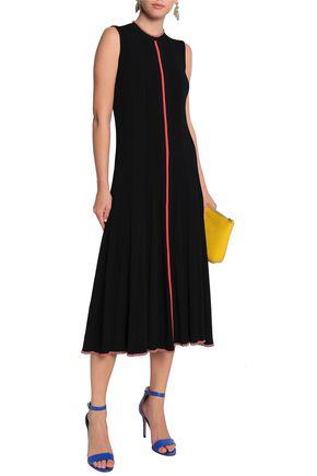 ROKSANDA Cutout pleated knitted midi dress
