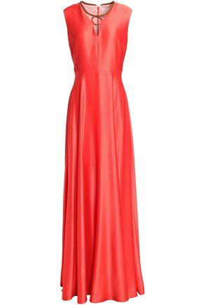 ROKSANDA Fluted silk satin-crepe gown