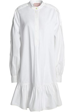 ROKSANDA Ruffled cotton-poplin shirtdress