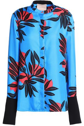 ROKSANDA Printed silk-twill shirt