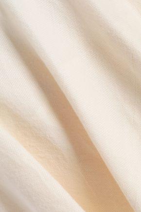 RICK OWENS Layered silk and wool-blend jacquard shorts