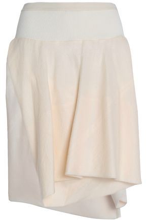 RICK OWENS Layered silk and wool-blend jacquard shorts