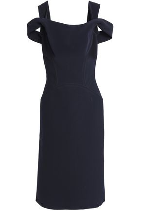 ZAC POSEN Off-the-shoulder cutout crepe dress
