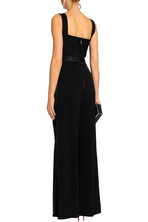 AMANDA WAKELEY Focus tulle and satin-trimmed cady jumpsuit