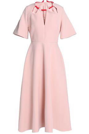 ROKSANDA Fluted cutout crepe midi dress