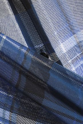 RAG & BONE Checked stretch-silk shirt