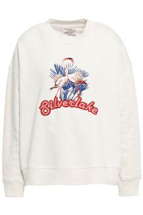 BAUM UND PFERDGARTEN January embroidered cotton-blend sweatshirt