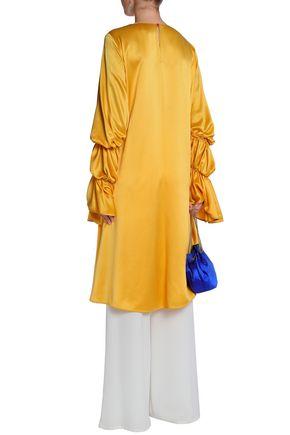 ROKSANDA Gathered silk satin-crepe tunic