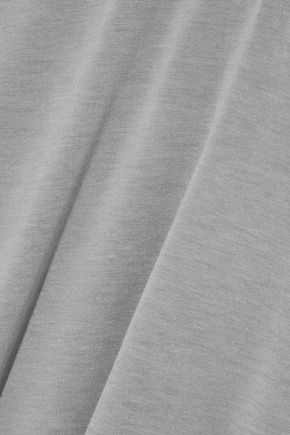 ENZA COSTA One-shoulder slub jersey T-shirt