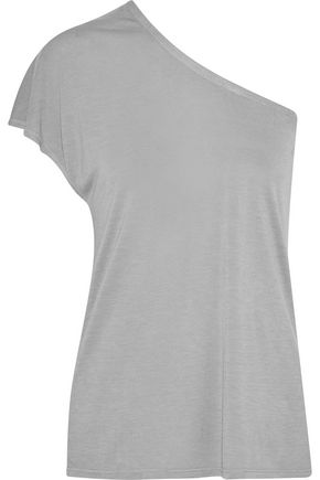 ENZA COSTA One-shoulder jersey T-shirt
