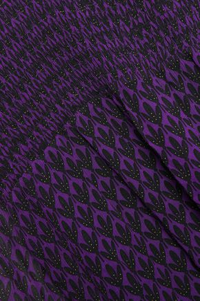 BAUM UND PFERDGARTEN Shirred printed georgette blouse