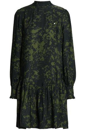 BAUM UND PFERDGARTEN Gathered printed twill mini dress