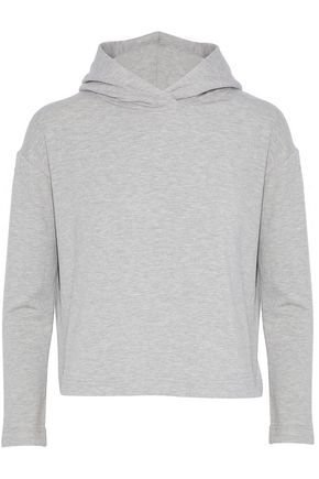 ENZA COSTA Jersey hooded sweatshirt