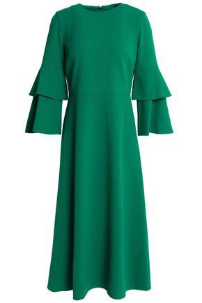 TIBI Fluted crepe midi dress