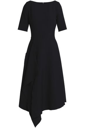 AMANDA WAKELEY Draped stretch-ponte dress