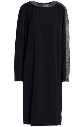 AMANDA WAKELEY Bead-embellished crepe dress