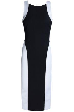 AMANDA WAKELEY Cutout two-tone ponte dress