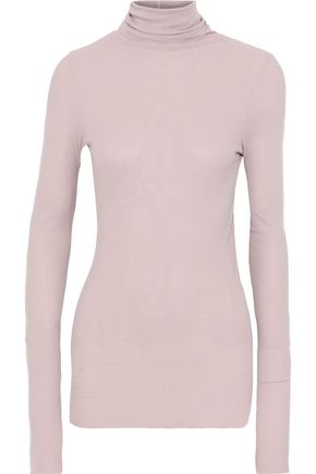 ENZA COSTA Ribbed jersey turtleneck top