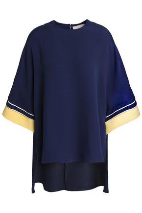 ROKSANDA Asymmetric silk-crepe blouse