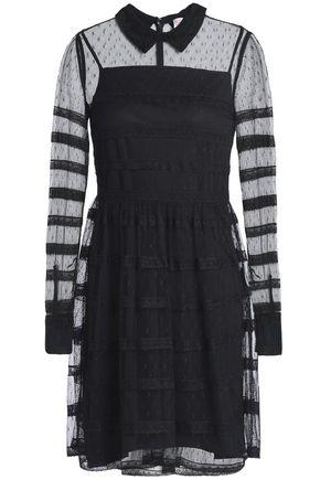REDValentino Lace-trimmed point d'esprit mini dress