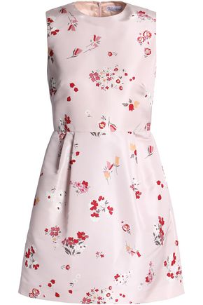 REDValentino Floral-print faille mini dress
