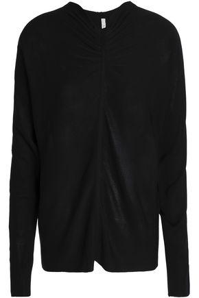 TIBI Ruched stretch-knit top
