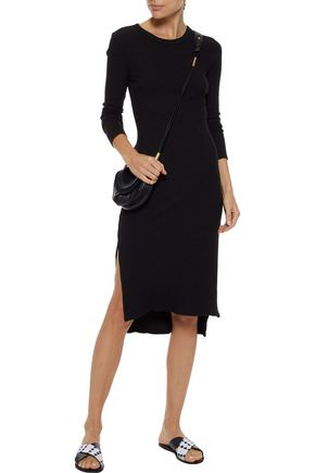 ENZA COSTA Ribbed-knit dress