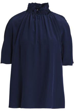 ROKSANDA Gathered silk crepe de chine blouse