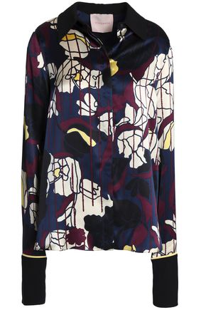 ROKSANDA Printed silk-satin shirt