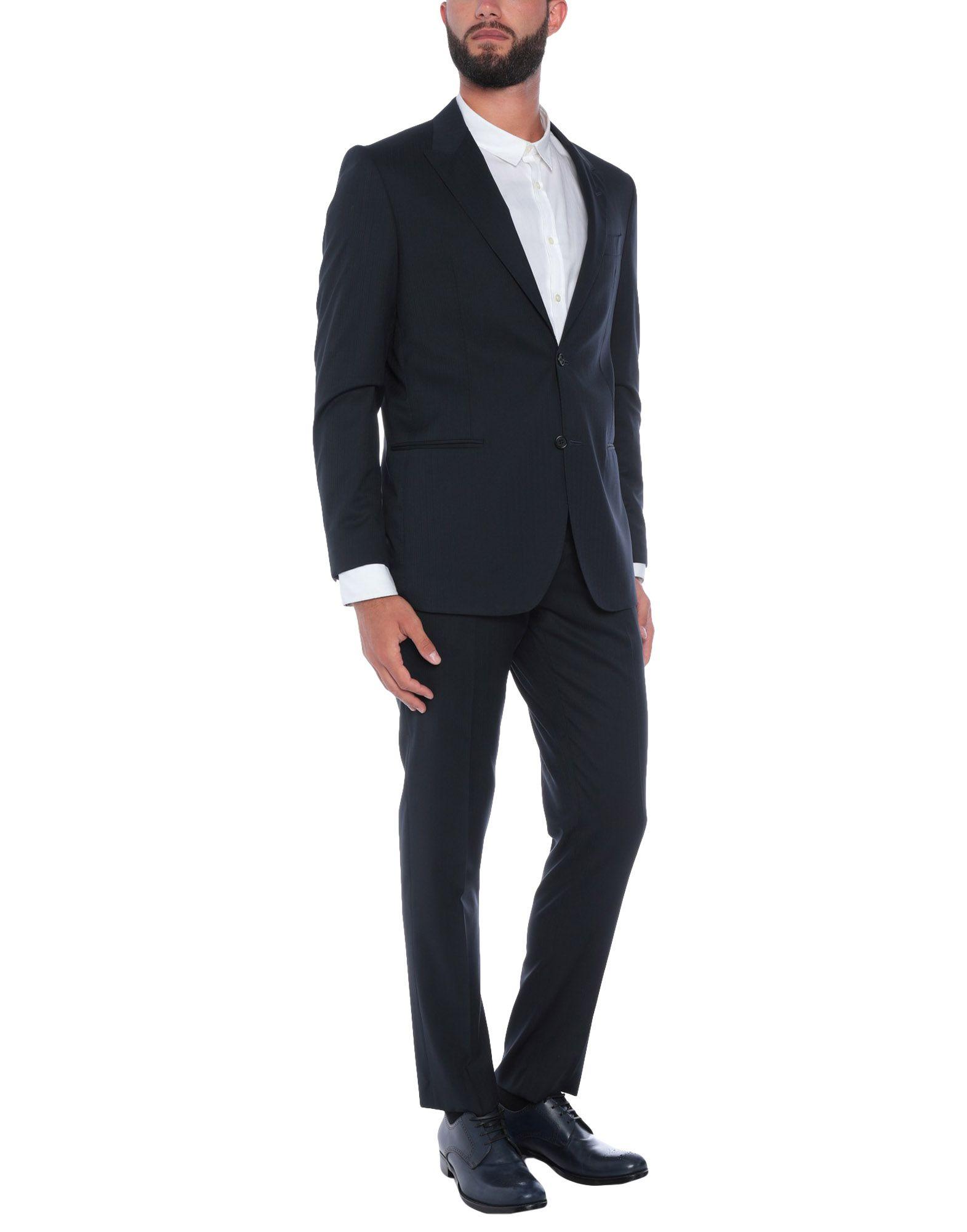 《送料無料》RIVIERA Milano メンズ スーツ ダークブルー 56 スーパー150 ウール 100%