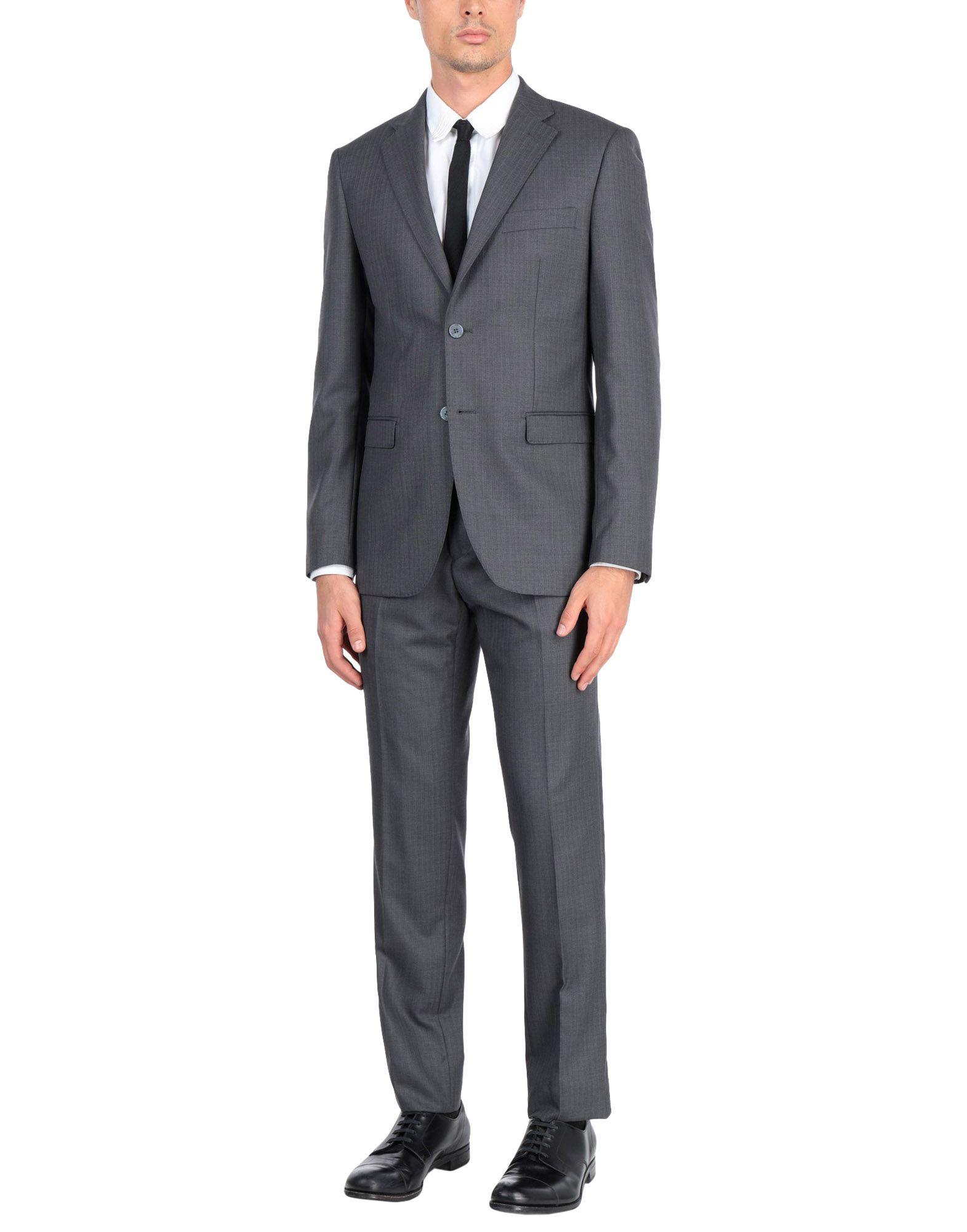 《送料無料》RIVIERA Milano メンズ スーツ 鉛色 48 バージンウール