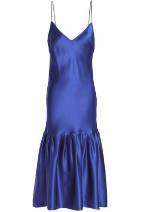 MAGGIE MARILYN Gathered silk-satin dress