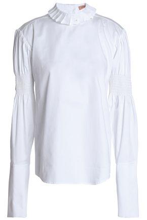 MAGGIE MARILYN Shirred cotton-poplin blouse