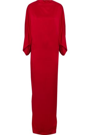 CHALAYAN Draped satin-crepe gown