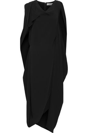 CHALAYAN Asymmetric draped cady midi dress