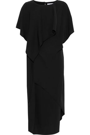 CHALAYAN Layered knotted crepe dress