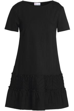 REDValentino Flared stretch-jersey mini dress