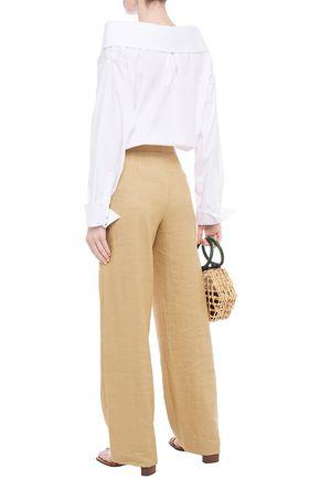 JOHANNA ORTIZ Cotton-blend poplin and printed jersey bodysuit