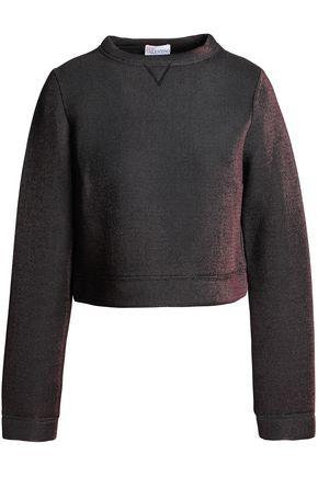 REDValentino Lamé-neoprene sweatshirt