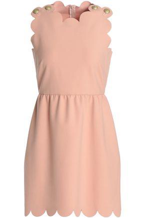 REDValentino Scalloped crepe mini dress