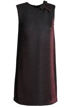 REDValentino Bow-embellished lamé-neoprene mini dress