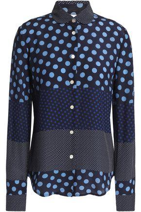 REDValentino Polka-dot silk crepe de chine shirt