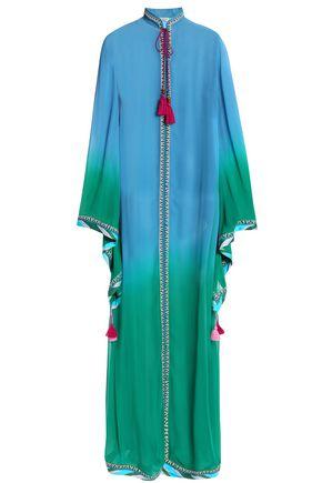 TALITHA Tasseled dégradé georgette maxi dress