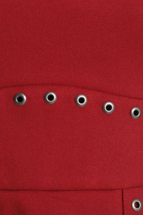 REDValentino Eyelet-embellished cotton-blend mini dress