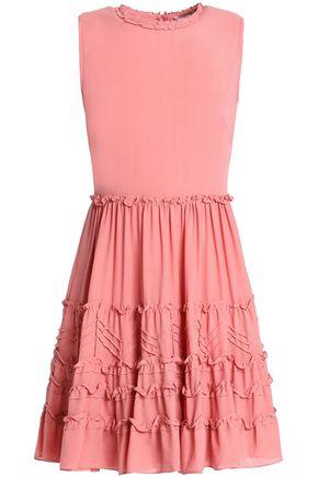 REDValentino Ruffled silk crepe de chine mini dress